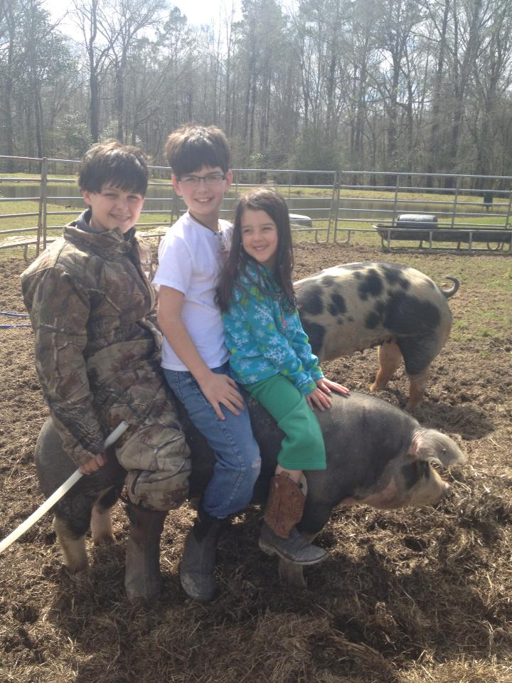 standing spot gilt with all 3 kiddos